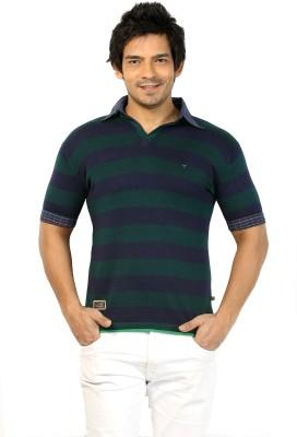 Core Striped Men's Polo Neck T-Shirt