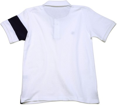 WROGN Solid Boy's Polo Neck White T-Shirt