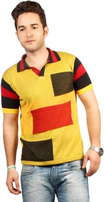 Everyuth Solid Men's Polo Yellow T-Shirt