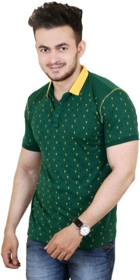 Zrestha Solid Men's Round Neck Green T-Shirt