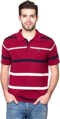 Fort Collins Striped Men's Polo Neck T-Shirt