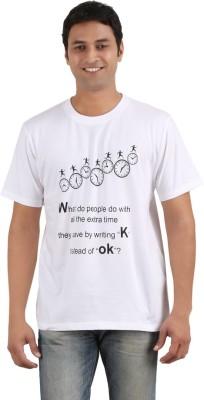 Merica Printed Men's Round Neck White T-Shirt