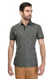 Octave Striped Men's Polo Neck Green T-S...