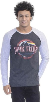 Pink Floyd Printed Men's Round Neck Grey T-Shirt