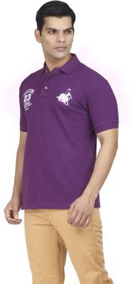 Fazator Embroidered Men's Polo Neck Purple T-Shirt