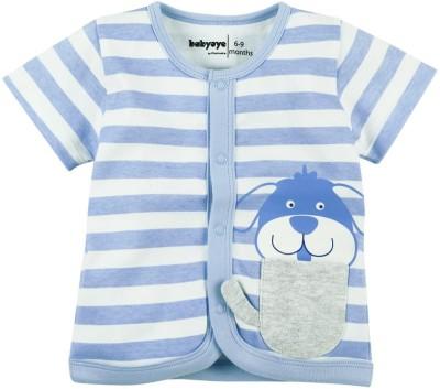 Babyoye Premium Striped Baby Boy,s Round Neck Blue T-Shirt