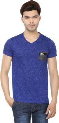 Lowcha Polka Print Men's V-neck Black, White T-Shirt