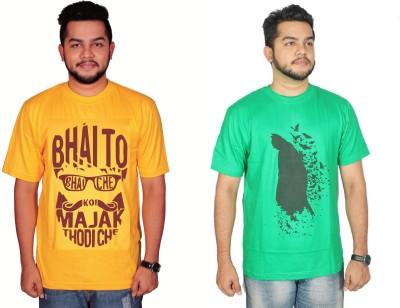 Leo Clothing Printed Men's Round Neck T-Shirt