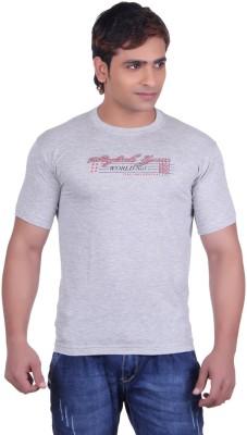 Martin Smith Printed Men's Round Neck Grey T-Shirt
