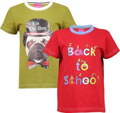 Flying Birds Printed Boy,s Round Neck T-Shirt