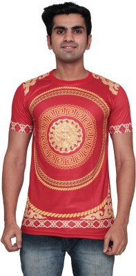 DDI Printed Men's Round Neck Red T-Shirt