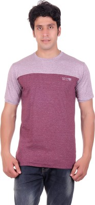 Montreal Solid Men's Round Neck Maroon T-Shirt