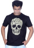 Ektarfaa Printed Men's Round Neck Black ...