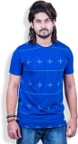 Mime Printed Men's Round Neck Blue T-Shi...