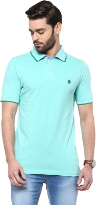Turtle Solid Men's Polo Neck Green T-Shirt