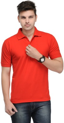 Kiosha Solid Men's Polo Red T-Shirt