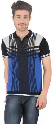 Stride Striped Men's Fashion Neck T-Shirt