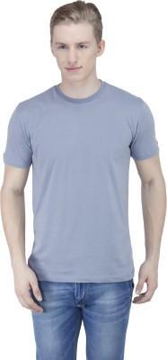 Sass Solid Men's Round Neck Grey T-Shirt