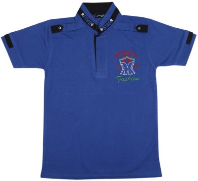 Esoft Embroidered Boy's Polo Neck T-Shirt