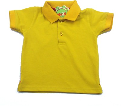 Ahad Solid Baby Boy's Polo Yellow T-Shirt