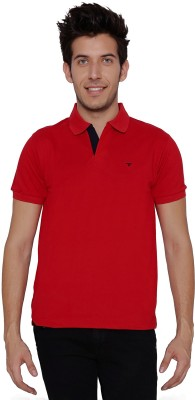 Threadz Solid Men's Polo Red T-Shirt