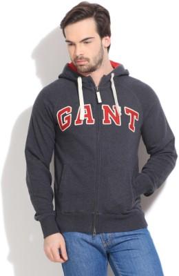 Gant Solid Men's Hooded Grey T-Shirt