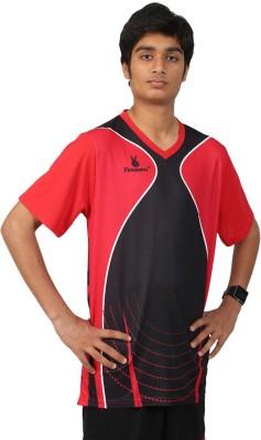 Triumph Printed Men's V-neck Red T-Shirt