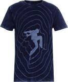 UFO Printed Men's Round Neck Dark Blue T...