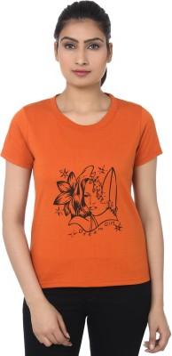 TshirtVilla Printed Women's Round Neck T-Shirt
