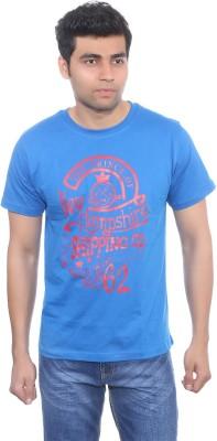 Studio Nexx Printed Men's Round Neck Blue T-Shirt