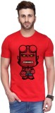 ANDSHAND Printed Men's Round Neck Red T-...