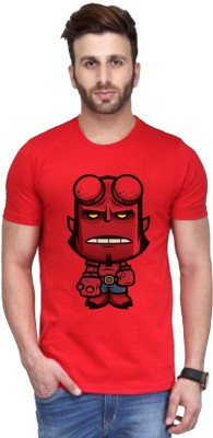 ANDSHAND Printed Men,s Round Neck Red T-Shirt