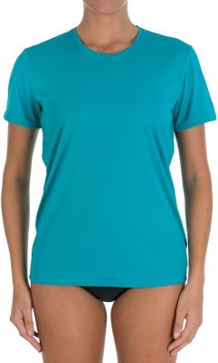 Tribord Solid Women's Round Neck Green T-Shirt