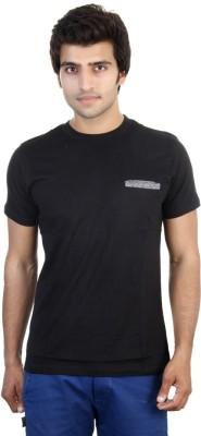Shra Solid Men's Round Neck Black T-Shirt