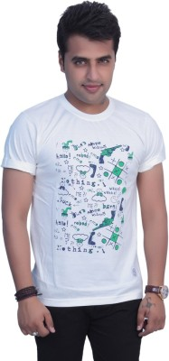 Filimore Graphic Print Men's Round Neck White T-Shirt