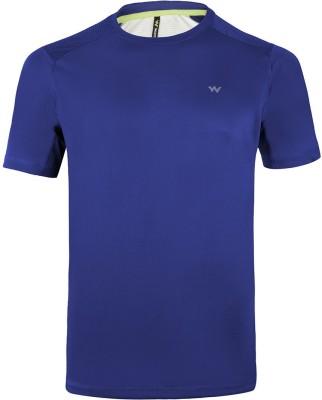 Wildcraft Solid Men's Round Neck Blue T-Shirt