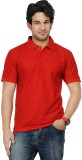 TSX Sportsman Solid Men's Polo Neck Red ...