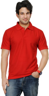 TSX Sportsman Solid Men's Polo Red T-Shirt