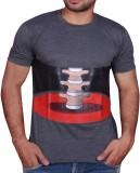 Jara Printed Men's Round Neck Grey T-Shi...