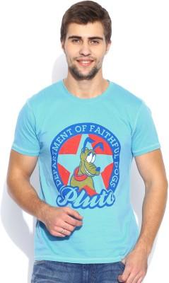 Kook N Keech Disney Printed Men's Round Neck Blue T-Shirt