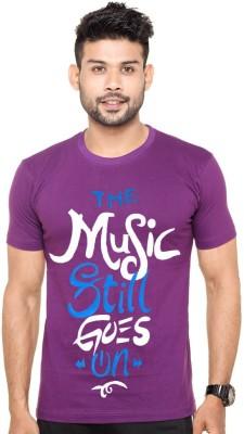 Cool Club Printed Boy's Round Neck Purple T-Shirt