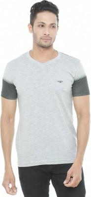 Wexford Solid Men's V-neck Grey T-Shirt