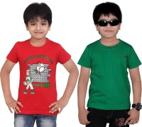 Dongli Solid Boys Round Neck Multicolor T-Shirt(Pack of 2)