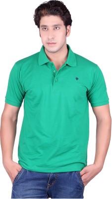 Deutz Solid Men's Flap Collar Neck T-Shirt