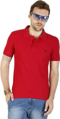 Duke Stardust Solid Men's Polo Neck Red T-Shirt