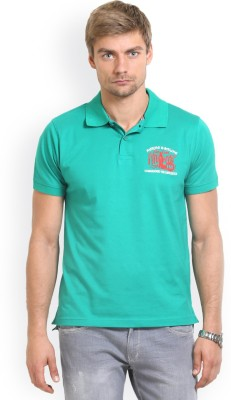 HW Solid Men,s Polo Neck Green T-Shirt