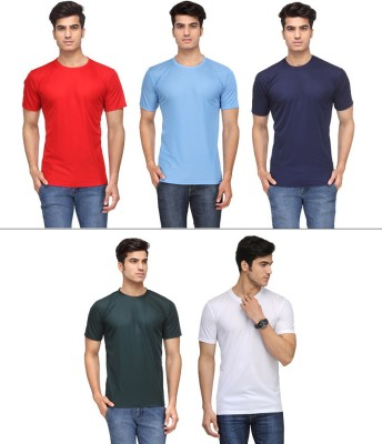 Vicbono Solid Men's Round Neck T-Shirt