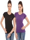 Ultrafit Solid Women's Round Neck T-Shir...