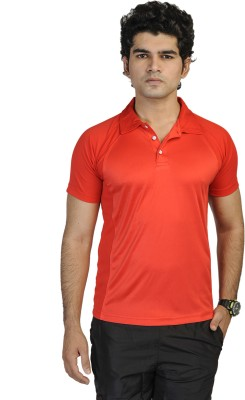 T10 Sports Solid Men's Polo Red T-Shirt