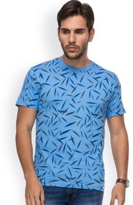 Blue Monkey Printed Men's Round Neck Light Blue T-Shirt